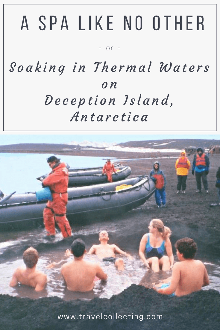 Soaking in Thermal Waters a Spa Like No Other, Deception Island, Antarctica