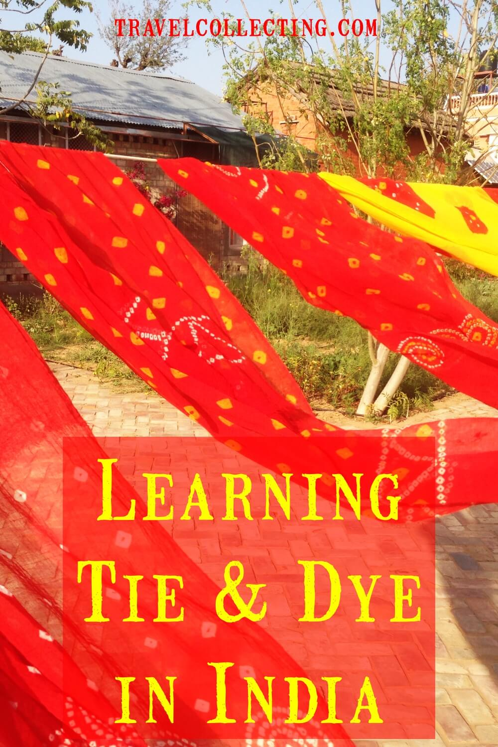 Learning Bandhani Tie and Dye India