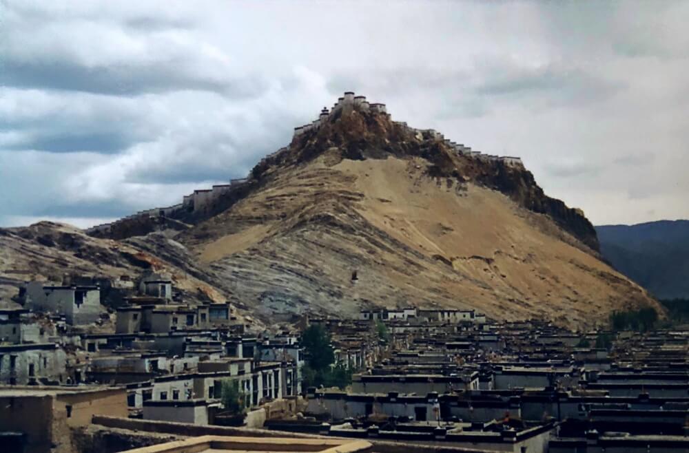 Gyantse fort in Tibet