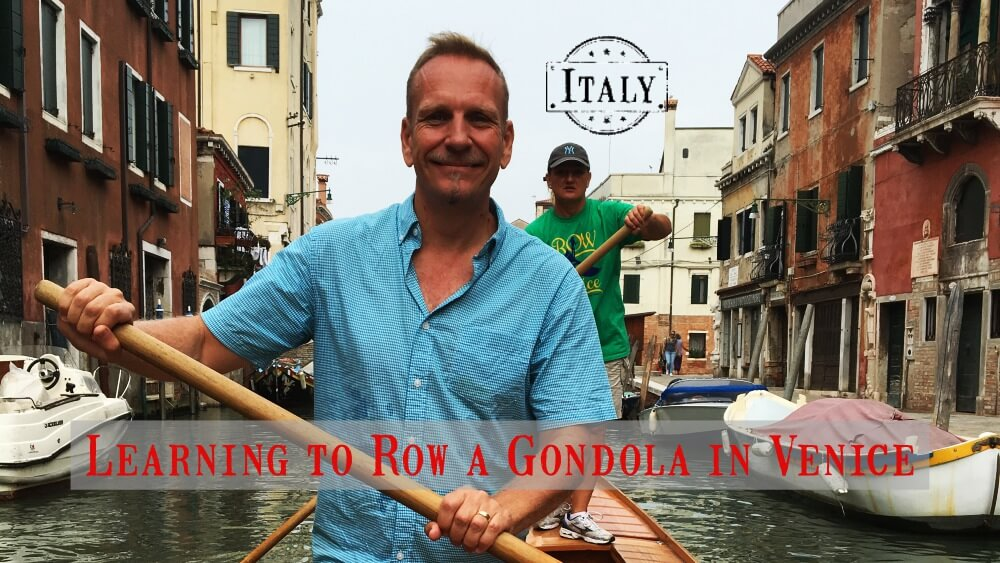Learning to row a gondola in venice