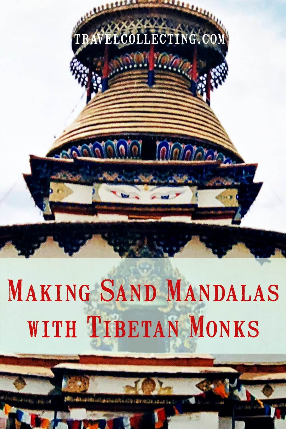 Making sand mandalas with Monks in Tibet