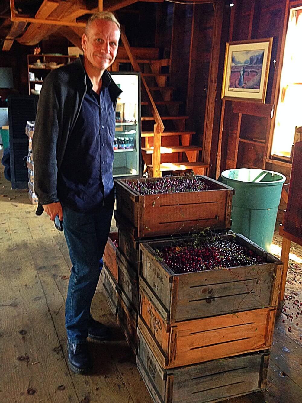 Me at Cranberry farm on cranberry bog tour