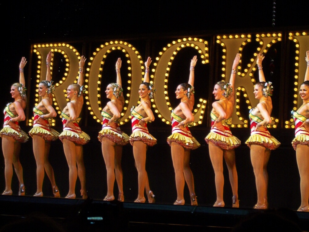 christmas celebration in new york radio city rockettes