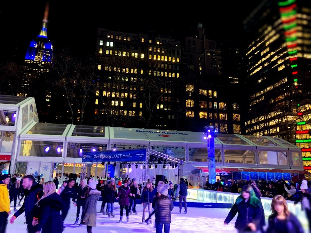 Ice skating bryant park