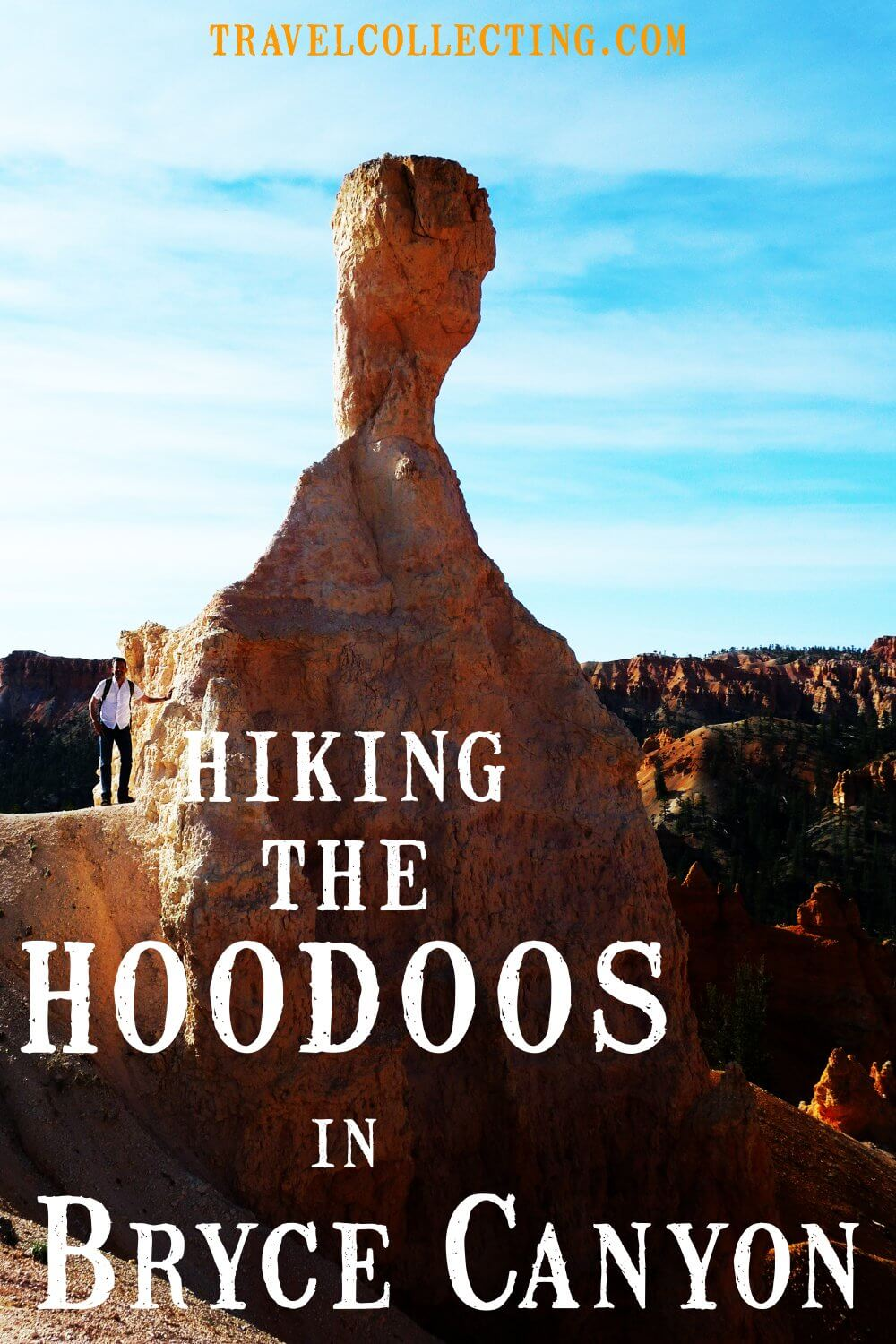 Hiking the hoodoos in bryce canyon