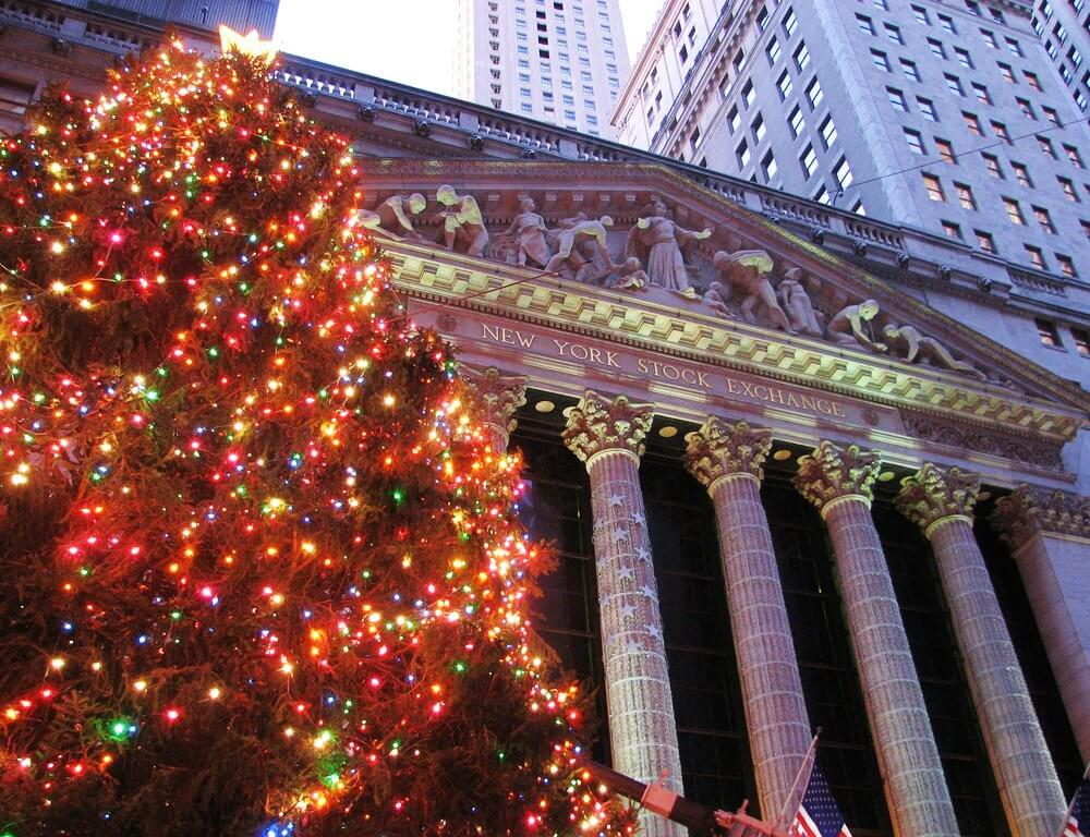 Wall Street Christmas Tree NYC