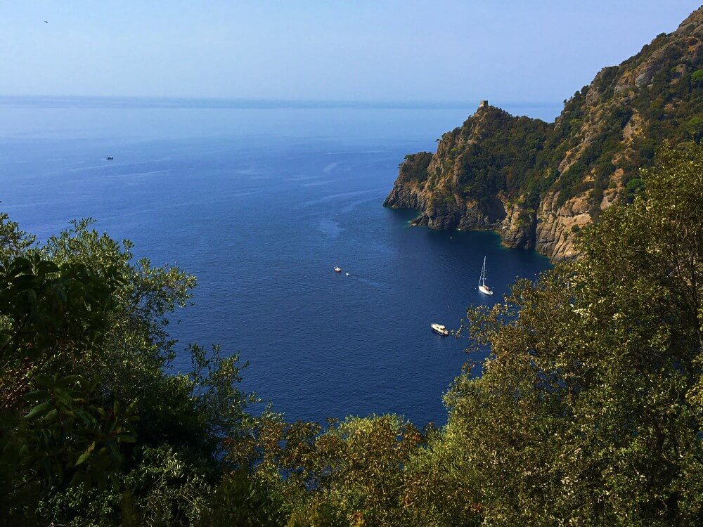 San fruttuoso bay from hike above - after glimpse