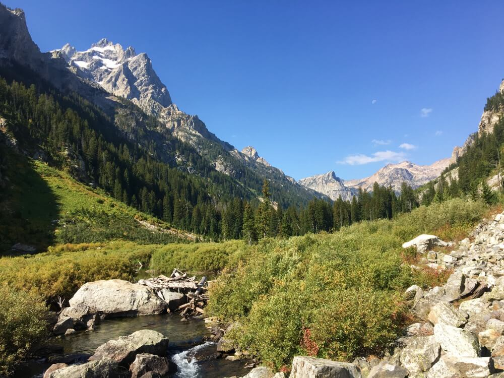 Cascade Canyon view grand teton