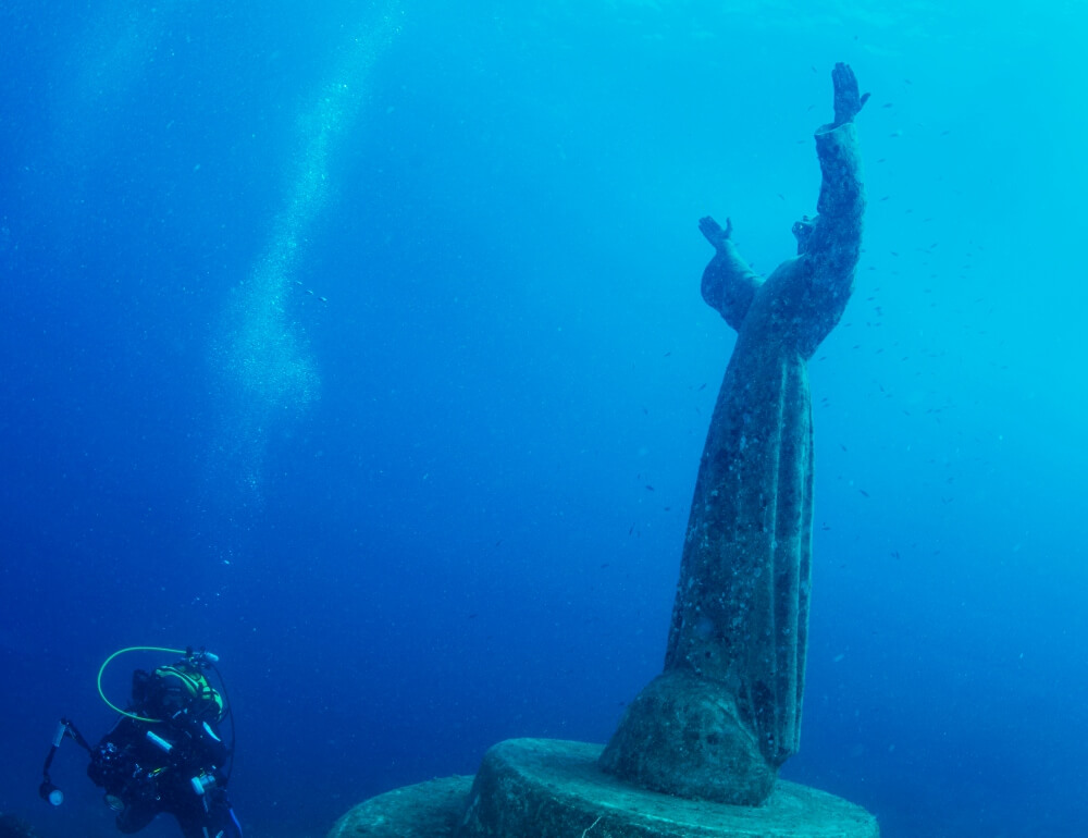 Christ of the Abyss San fruttuoso