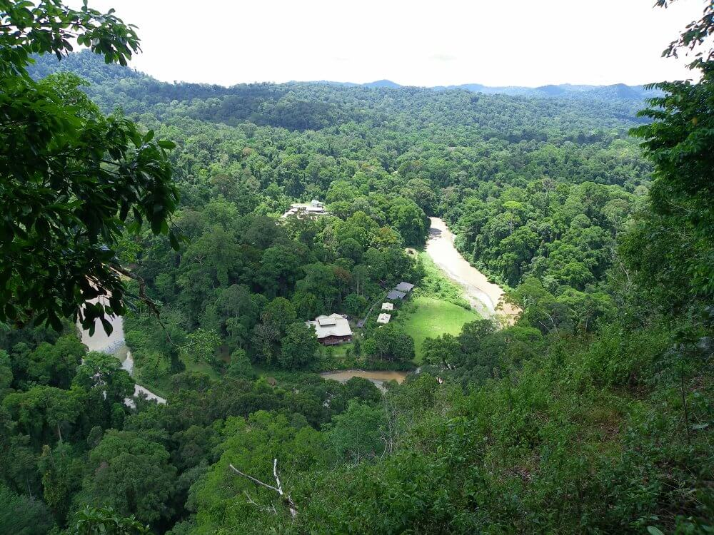 Borneo Rainforest Lodge view from above