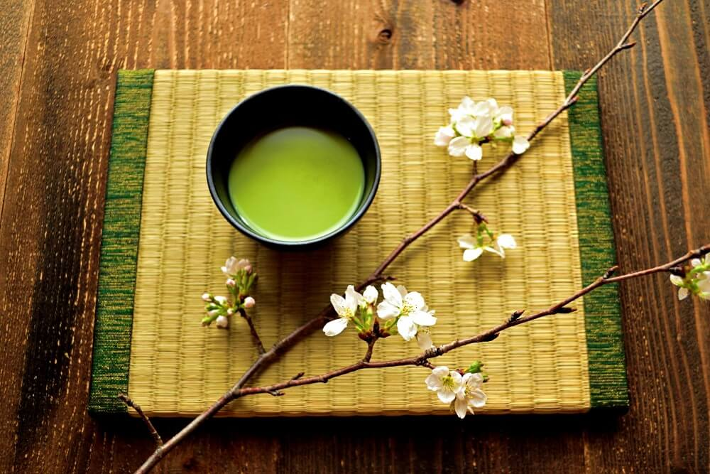 Soup and cherry blossoms welcome to luxury ryokan