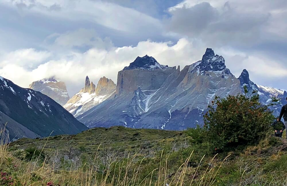 View of Cuernos del Paine near start of French Valley HIke part of the W HIke