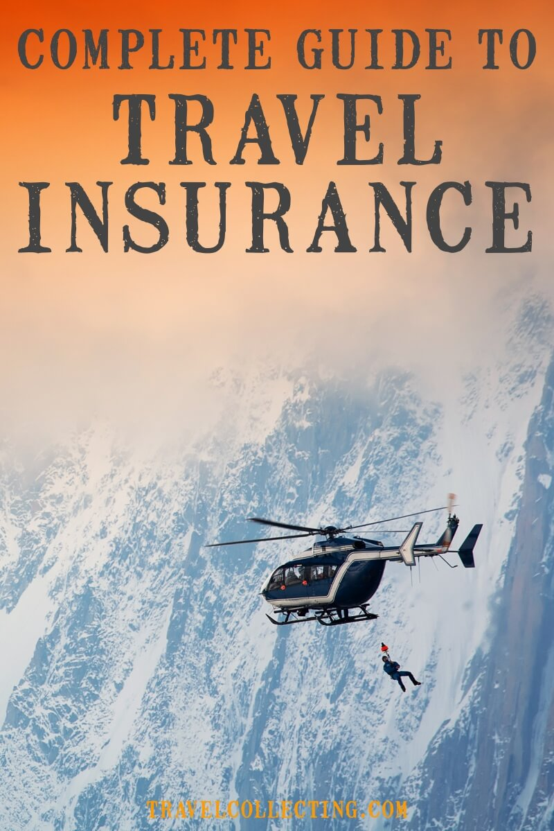 Helicopter rescue with title Complete Guide to Travel Insurance