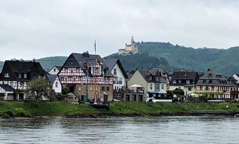 Oberspay and Marksburg Castle
