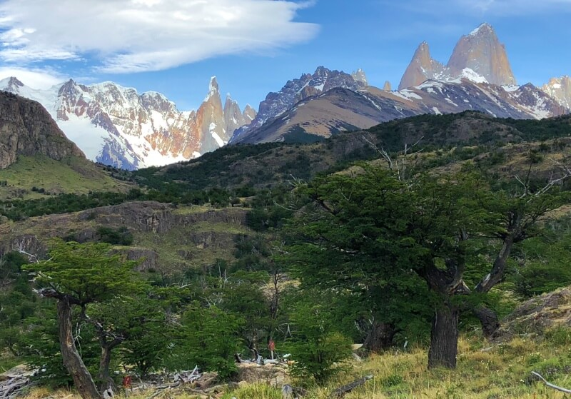 0-1 km View of Cerro Torre and Fitzroy from Mirador Margarita
