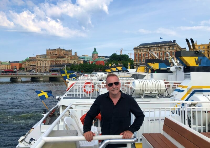 boarding the ferry to Vaxholm in Stockholm