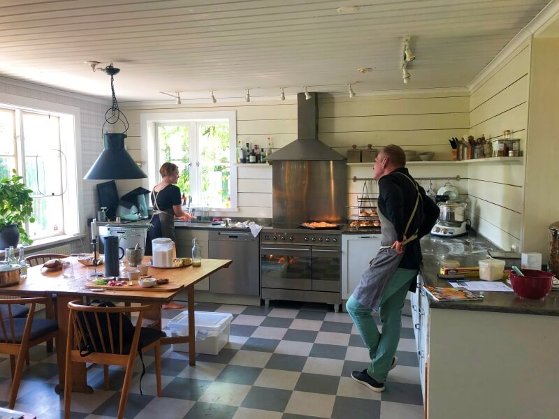 Kitchen at Vaxholms Bed and Breakfast