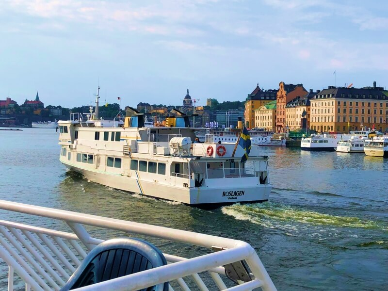 2. The ferry to Vaxholm from Stockholm