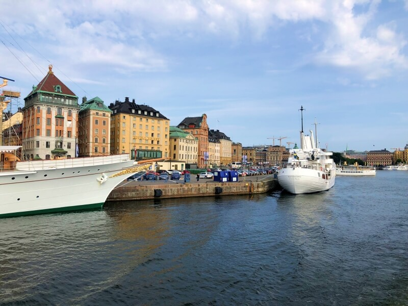 Sailing through Stockholm on the ferry to Vaxholm