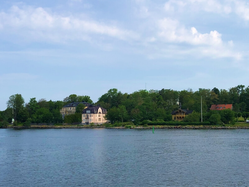 Djurgarden seen from the Stockholm to Vaxhom ferry
