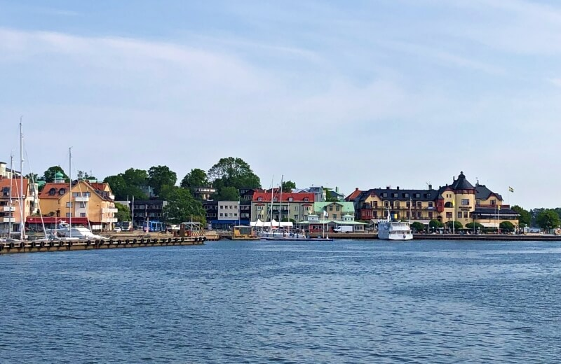 Vaxholm from the ferry from Stockholm