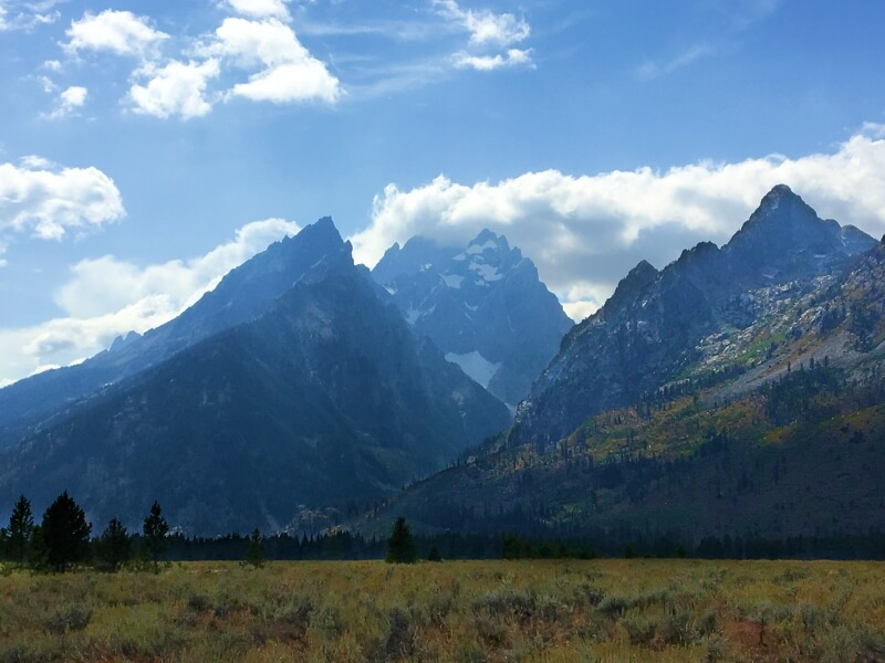 Cathedral Group Turnout Grand teton National Park scenic drive