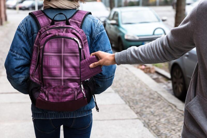 Antitheft backpack